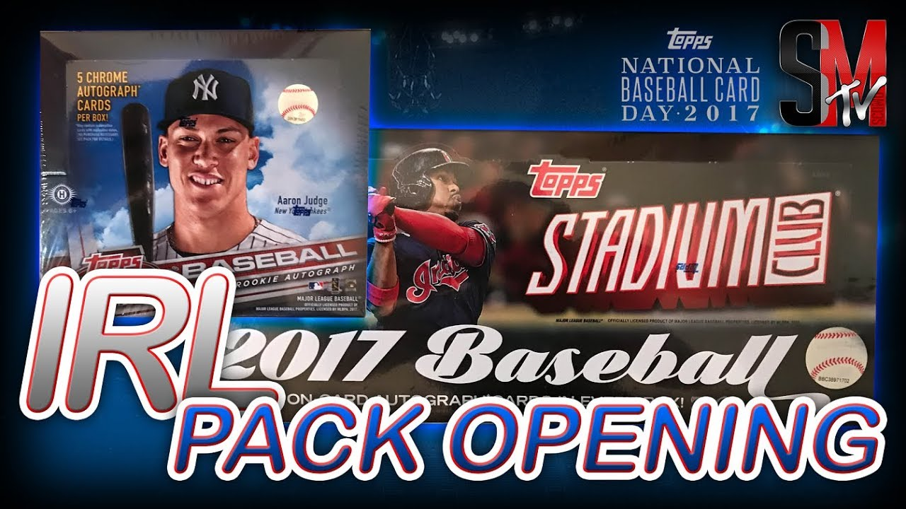 Irl Pack Opening Topps National Baseball Card Day