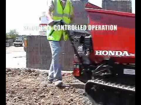 honda tracked power dumper youtube
