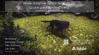 [SIGGRAPH 2018] Mode-Adaptive Neural Networks for Quadruped Motion Control