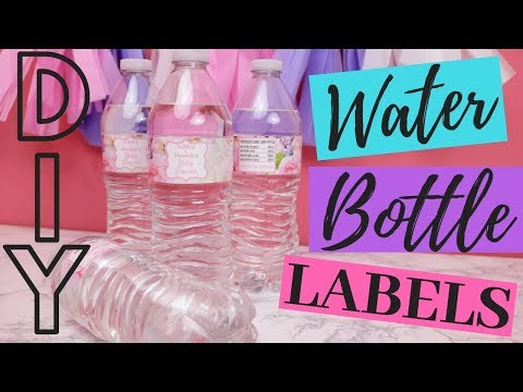 How To Make Your Own Custom Diy Water Bottle Labels Youtube