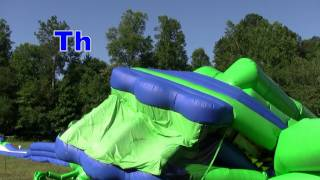 Inflating the worlds largest Inflatable water slide