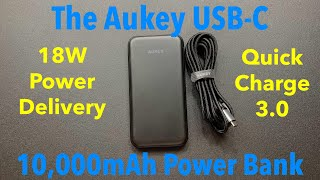 The Aukey PB-Y13 10000mAh 18W USB-C Power Bank! Allows You To Fast Charge Your Devices!