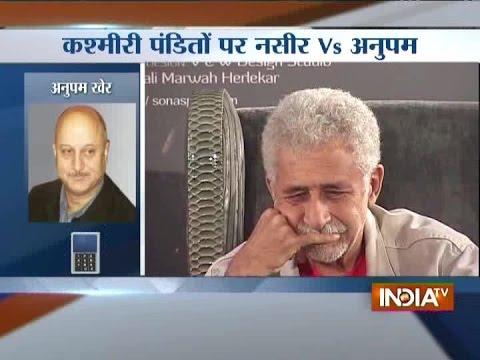 Naseeruddin Shah vs Anupam Kher: Legends Clashing over 'Kashmiri Pandits'