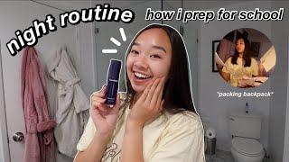 in-person school night routine | how i prep the night before! Nicole Laeno