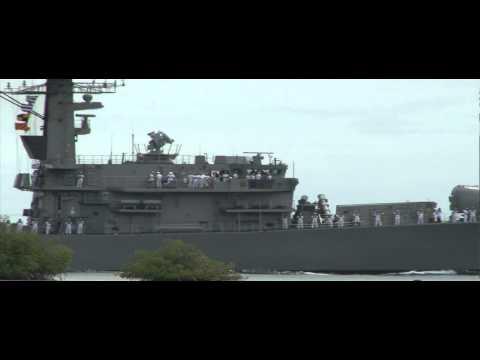 Chilean Navy Frigate CS Almirante Lynch Crosses Pearl Harbor - RIMPAC 2012