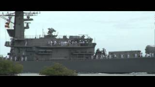 Chilean Navy Frigate CS Almirante Lynch Crosses Pearl Harbor - RIMPAC 2012
