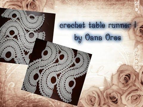 Crochet Table Runner Part One By Oana Youtube