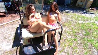 Sexy Mesh Bikini Models 18 Golf Cart Shoot 4k