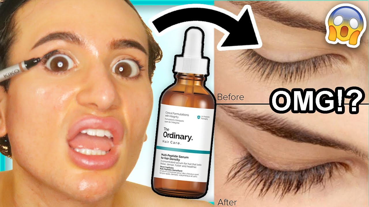 I Tried The Ordinary Multi Peptide Growth Serum For Hair Density On My Lashes And Brows For 4 Weeks Youtube