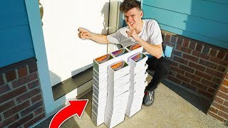 Delivering 100 IPHONES To My Neighbors House ($100,000)