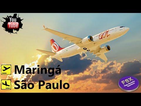 VOO GOL AO VIVO DA CABINE | Maringá ✈ São Paulo | FSX | Rede IVAO