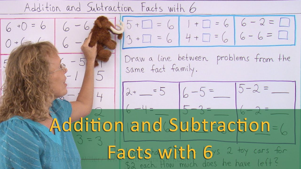 Addition and Subtraction Facts with 6