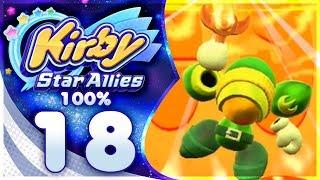 SIZZLE SWORD! Kirby Star Allies - 100% Walkthrough: Far-Flung Starlight Heroes | Part 18!