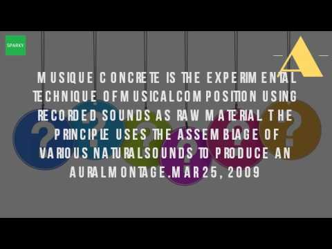 What Is Concrete Music?