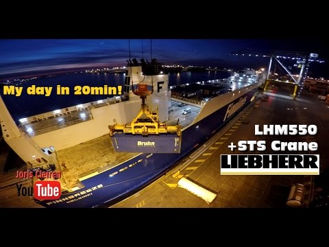 Working on a FINNLINES ship with a Liebherr LHM550 & STS Gantry crane 6HOURS in 20 MINUTES!!