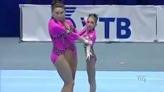 Выступление женской команды России по акробатике