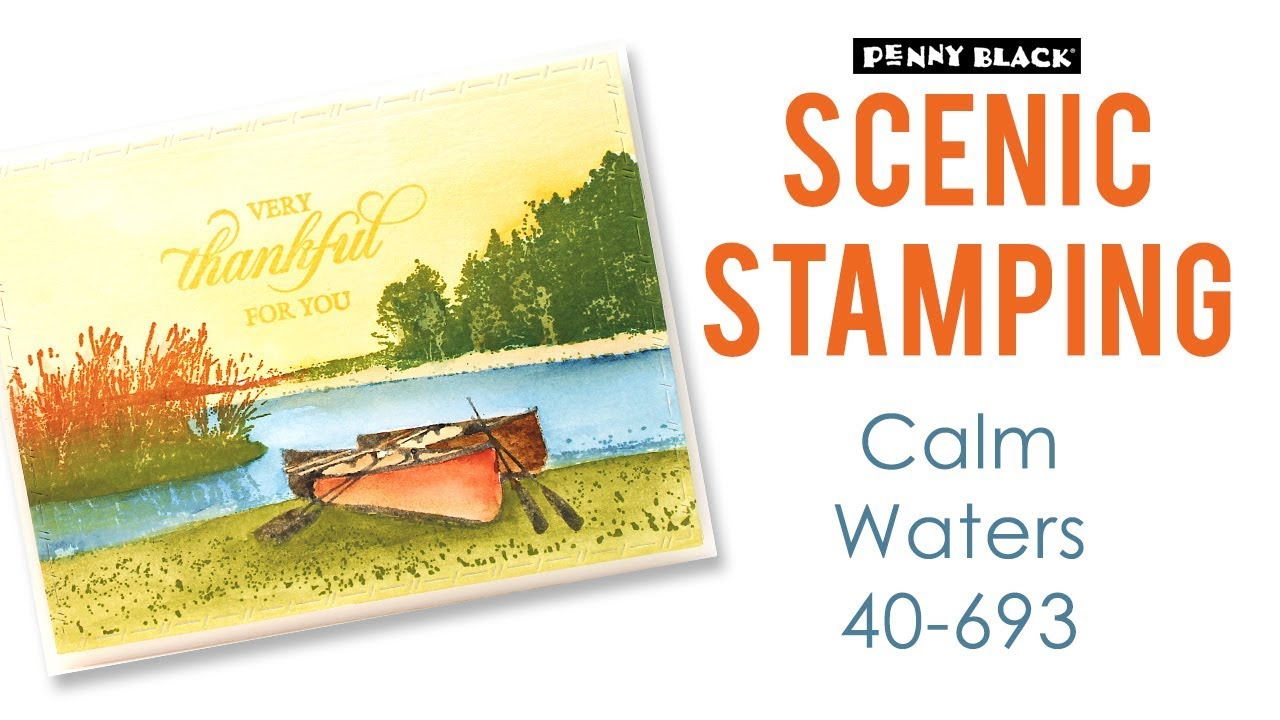 Penny Black 40-693 Calm Waters Cling Rubber Stamp