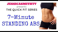 Ab Workout, Abs, Belly Fat, Weight Loss: 7-Minute Full Length Standing Abs Workout