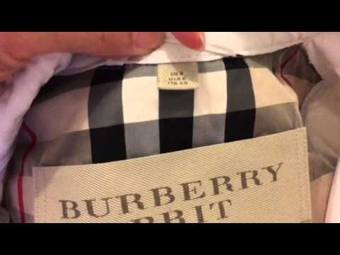 591802b3c7 How to spot a real authentic Burberry trench coat - YouTube