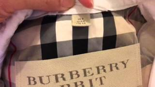 How to spot a real authentic Burberry trench coat