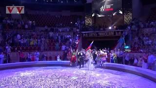 Кристина Асмус на арене цирка