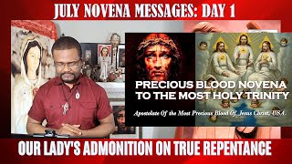 July Novena Messages  Part 2 Day 1(Novena To The Most Holy Trinity)