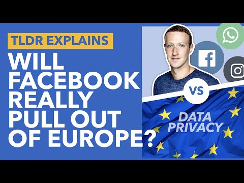 Facebook Threatens To Quit Europe: SORRY... WHAT? Will Facebook Leave Europe? - TLDR News