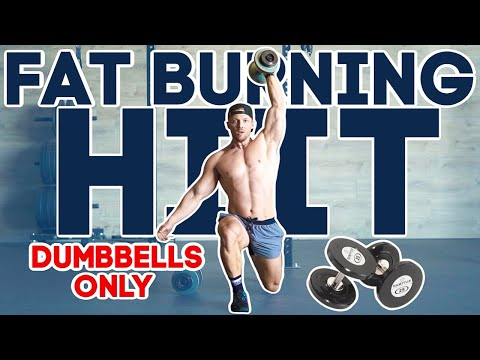 14 Minute FAT BURNING WORKOUT // Dumbbells Only