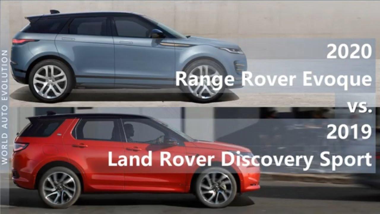 2020 Range Rover Evoque vs 2019 Land Rover Discovery Sport (technical comparison)