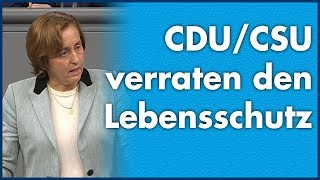Beatrix von Storch (AfD) - CDU/CSU verraten den Lebensschutz