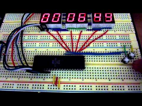 ATMega16 AVR Microcontroller Seven Segment Digital Clock   AVR Tutorials