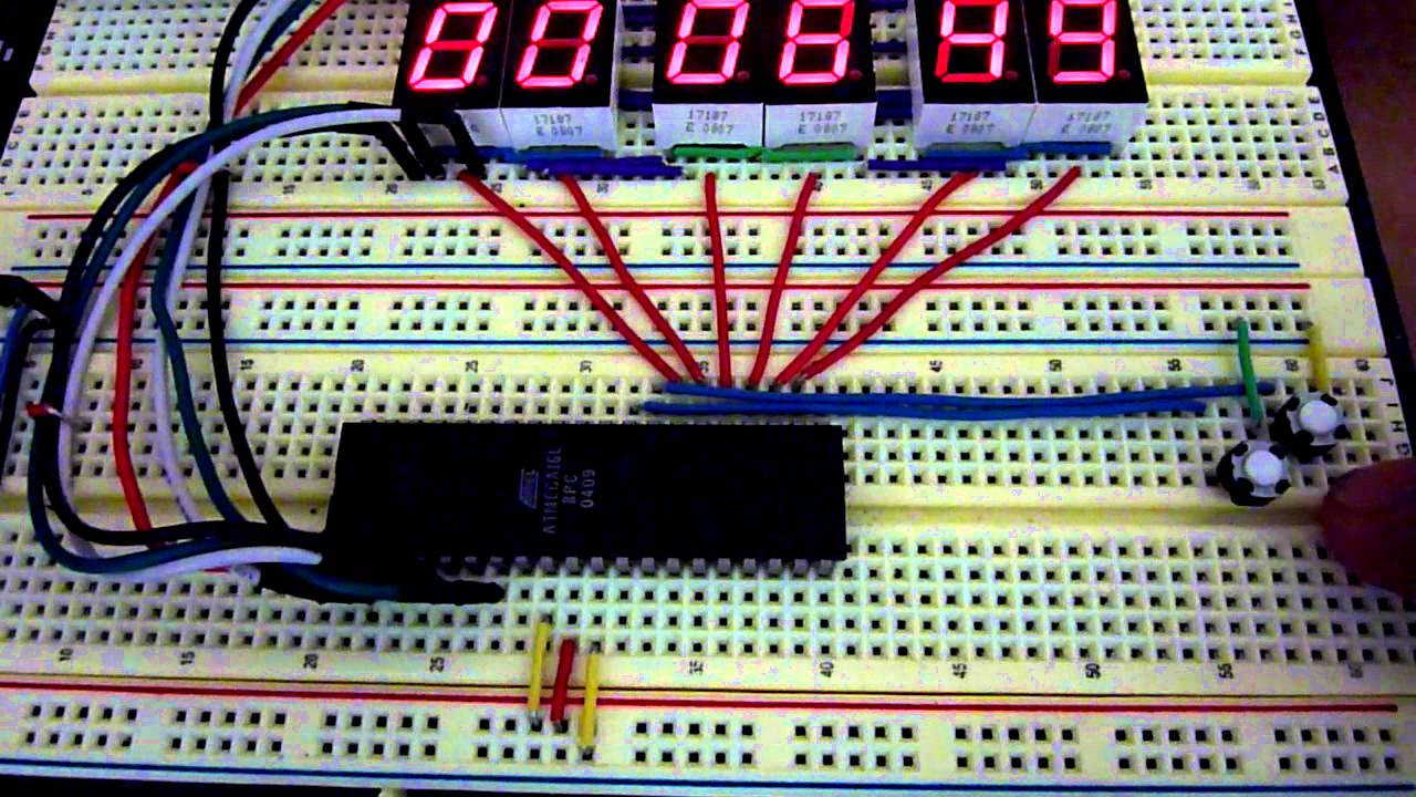 Atmega16 Avr Microcontroller Seven Segment Digital Clock Digit 7 Display Arduino Also Circuit 4026