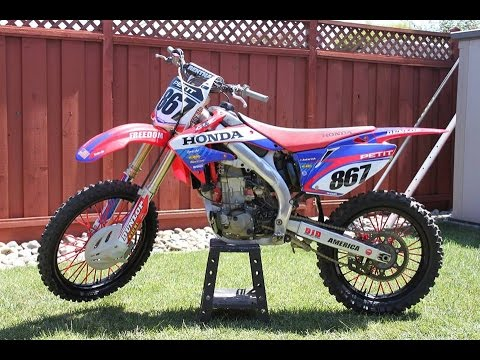 2008 Crf450r exhaust - YouTube