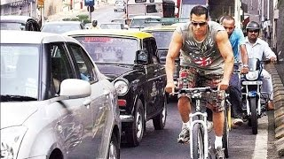 Salman Khan Goes Cycling on the Streets of Mumbai