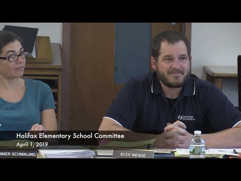 Halifax Elementary School Committee 04/01/19