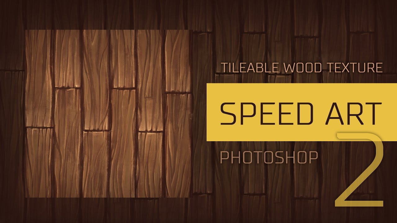 Speed art 2 Painting a tileable wood texture in Photoshop