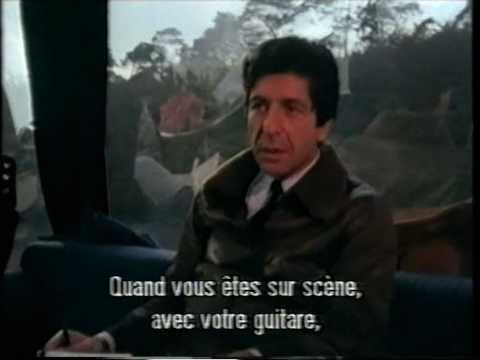 Leonard Cohen on a tour bus (1979)