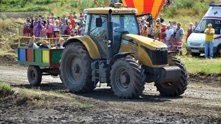 Управление трактора вожжами. Тракторные гонки Бизон-Трек-Шоу 2014.
