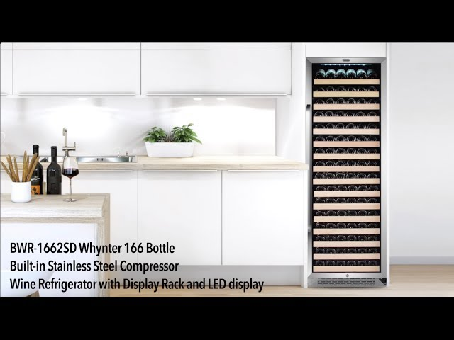BWR-1662SD Whynter 166 Bottle Built-in Wine Refrigerator with Display Rack