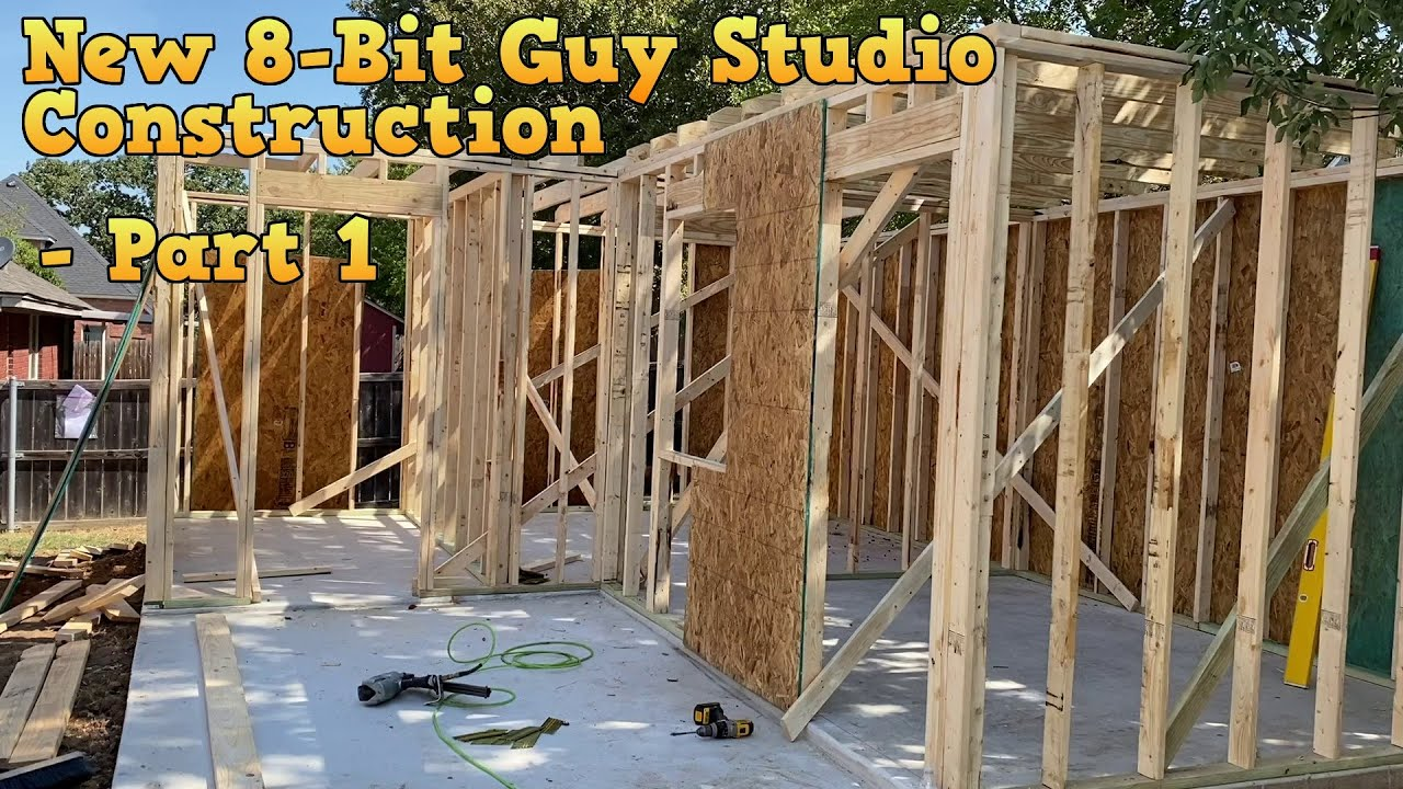New 8-Bit Guy Studio Construction - Part 1