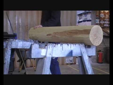 Construction of a wooden dummy (Body part 1).wmv