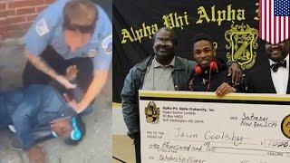 Policía agrede a joven afroamericano porque una pareja blanca tenia miedo de su presencia