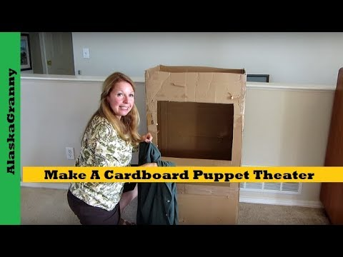 Make A Cardboard Puppet Theater