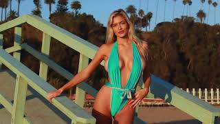 Up Close with Bikini Model Hannah Palmer in Santa Monica, CA