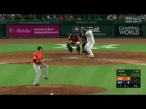 Gary Sanchez Solo Homerun vs Astros | Yankees vs Astros Game 5 ALCS