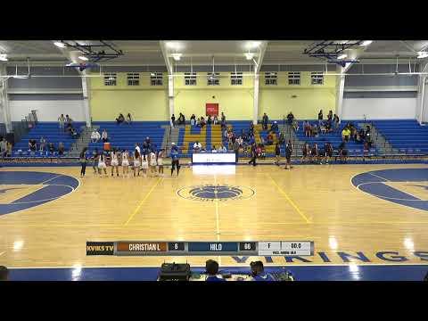 01/09/2020 Varsity Girls Basketball vs. Christian Liberty Academy