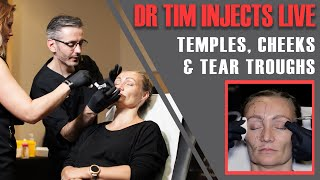 How NOT to inject the BRAIN! Dr Tim injects temples, cheeks & tear troughs [Aesthetics Mastery Show]