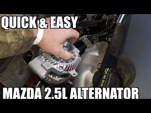 How to Replace Alternator 07-12 Mazda 6
