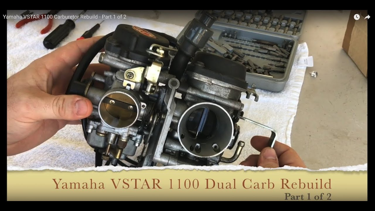 Yamaha Vstar 1100 Carburetor Rebuild - Part 1 Of 2