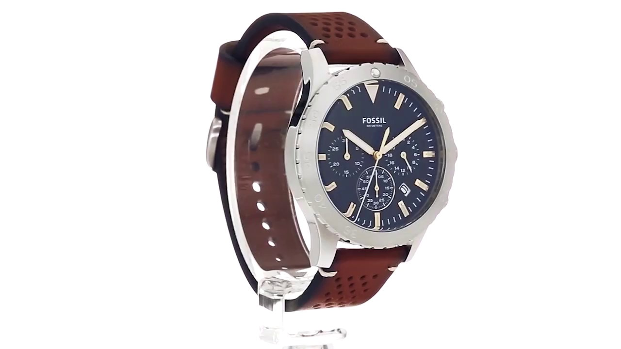 bcb691cb8 Fossil Crewmaster Sport Leather - CH3077 SKU:8887444 - YouTube